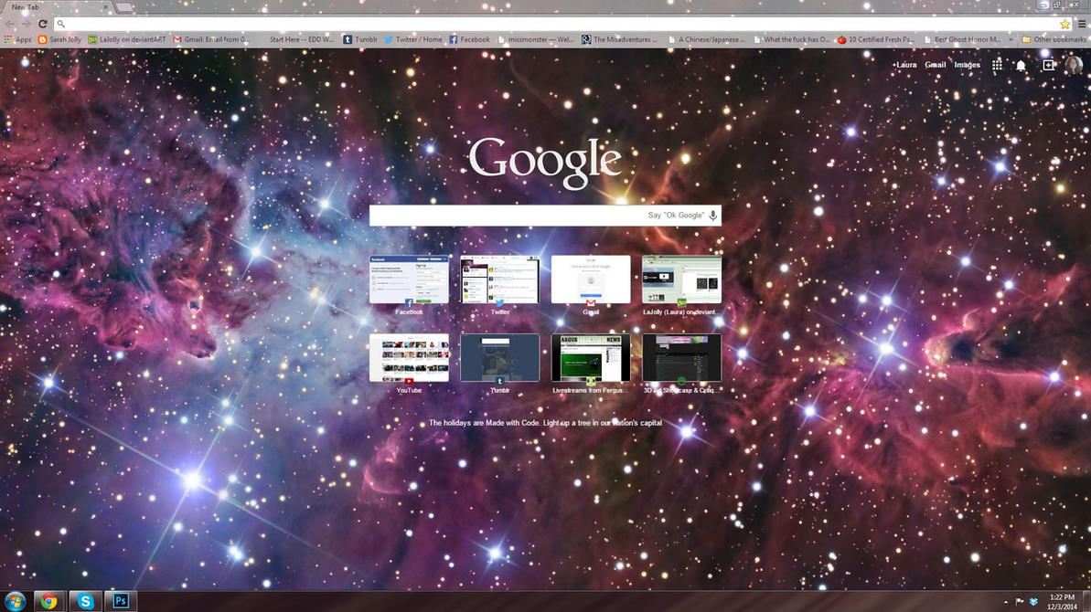Gmail themes chrome - Google Chrome Space Theme By Lajolly
