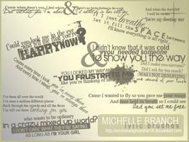 Michelle Branch Lyric Brushes by enchantingmarshie18