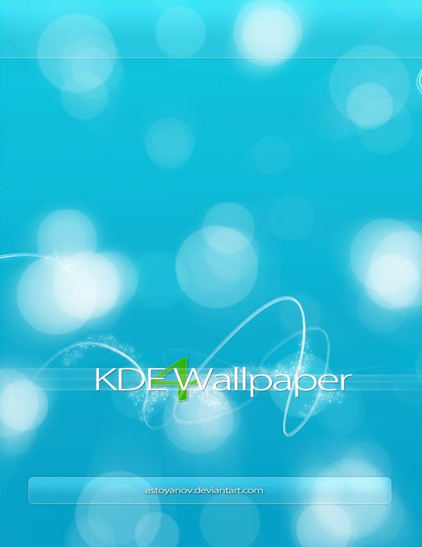 KDE 4 Wallpaper by astoyanov