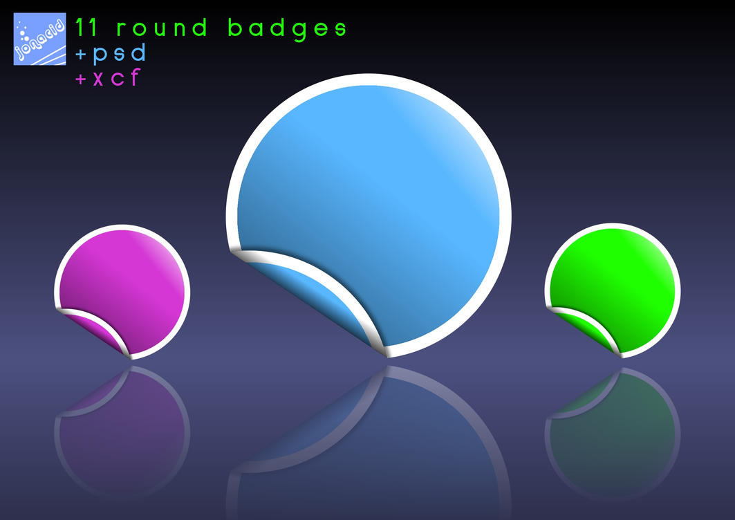 Artwork: 11 Round Badges by Jonacid
