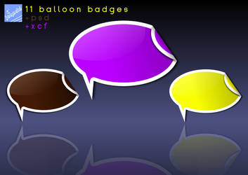 Artwork: 11 Balloon Badges by Jonacid