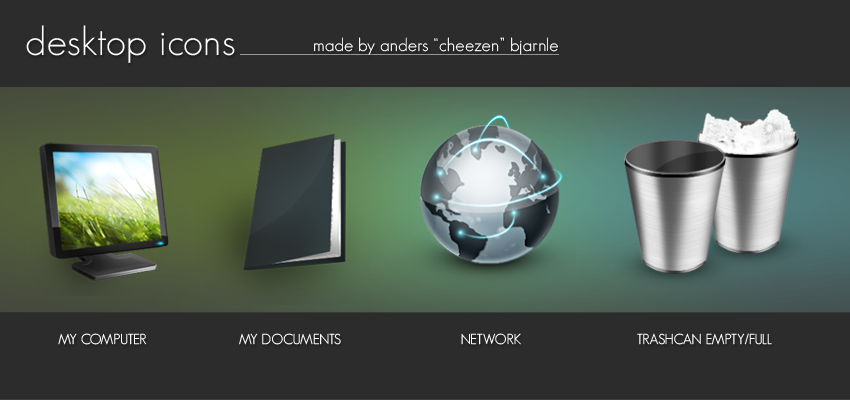 Desktop Icons by Cheezen
