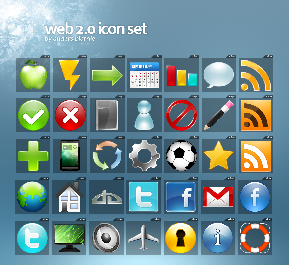 web 2 icon set by Cheezen