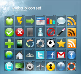 web 2 icon set