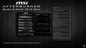 MSI Afterburner Black and White 2015 Skin