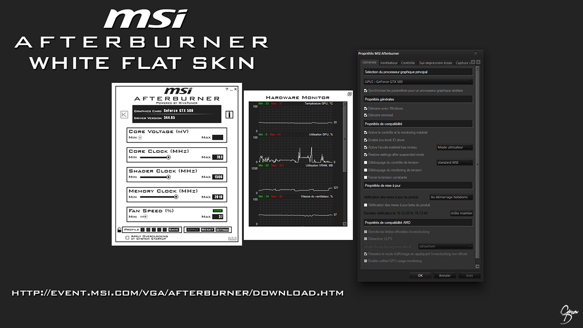 MSI Afterburner White Flat Skin by Grum-D on DeviantArt