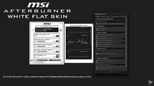 MSI Afterburner White Flat Skin