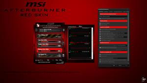 MSI Afterburner Red Skin