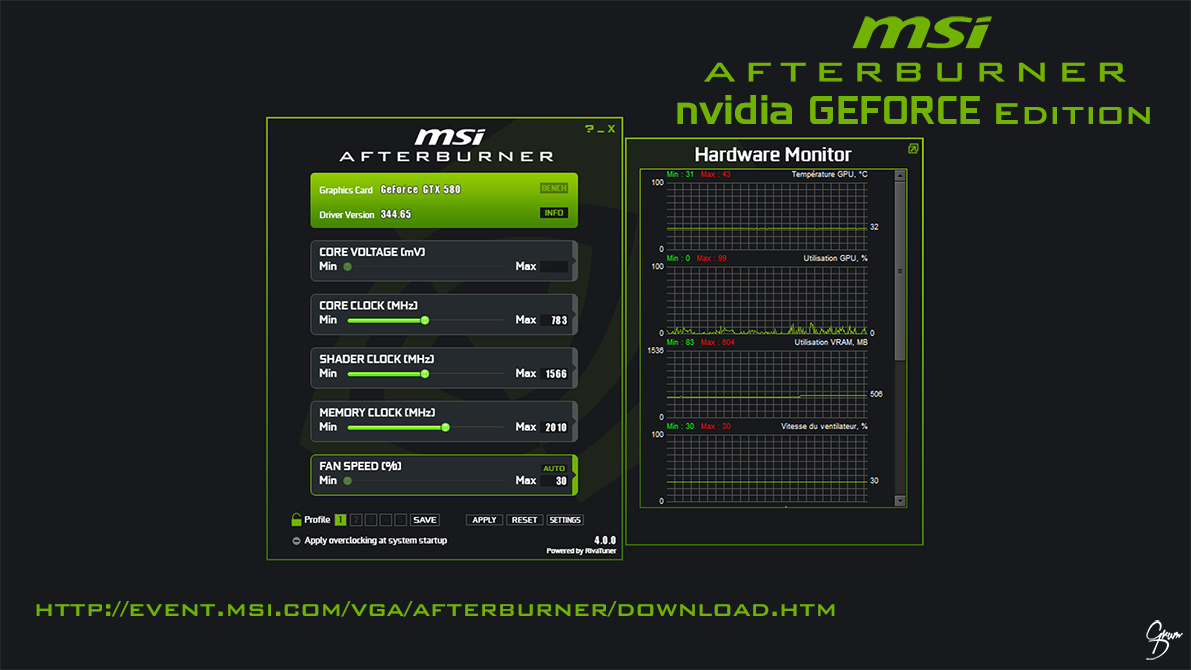Msi Afterburner Nvidia Flat Skin By Grum D On Deviantart