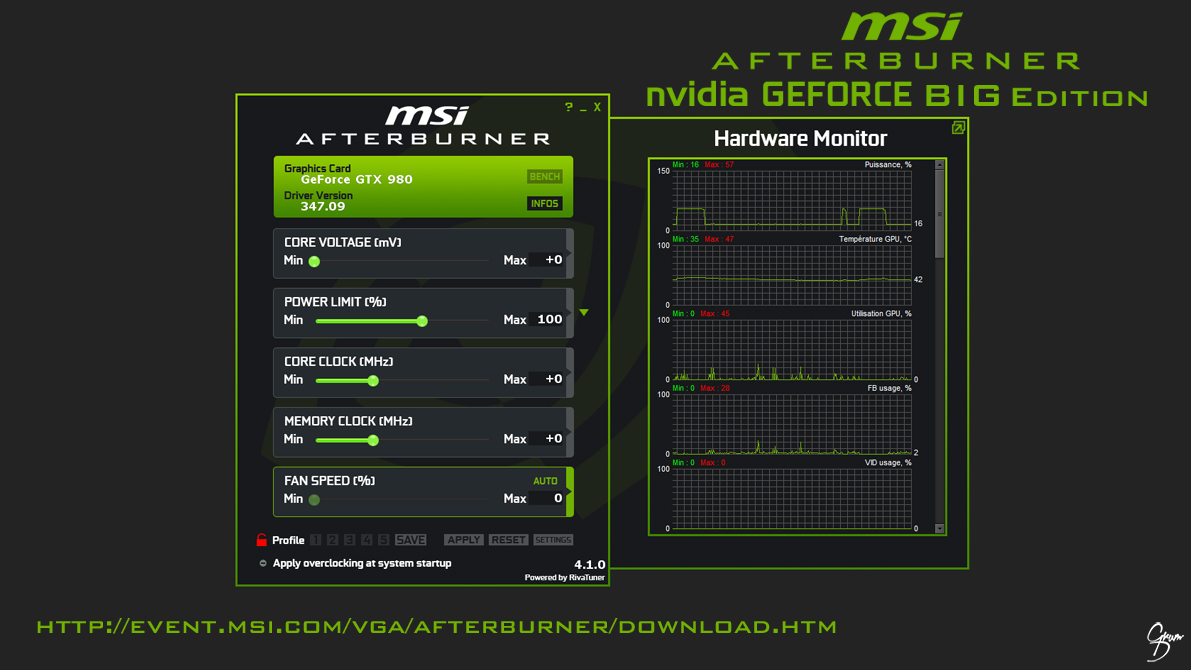 MSI Afterburner nVidia Flat Skin [BIG EDITION] by Grum-D on