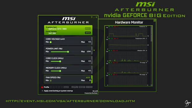 MSI Afterburner nVidia Flat Skin [BIG EDITION]