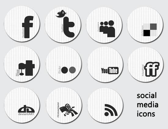 social media icons by ziyaklon