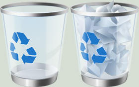 High res recycle bin icons by M1LLAH