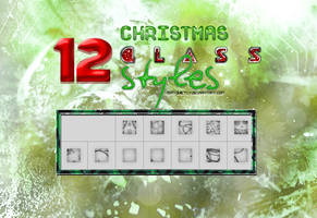 +12 Christmas Glass Styles by ISatQuietly