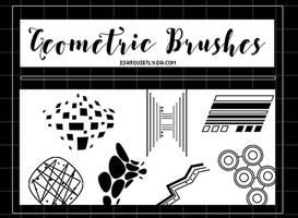 +NEW Geometric Brushes by ISatQuietly