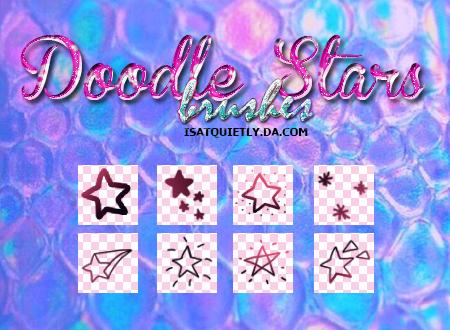 +Doodle Stars Brushes by ISatQuietly