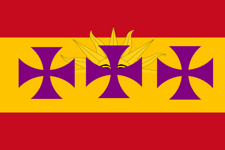 Flag of Spanish language by hosmich