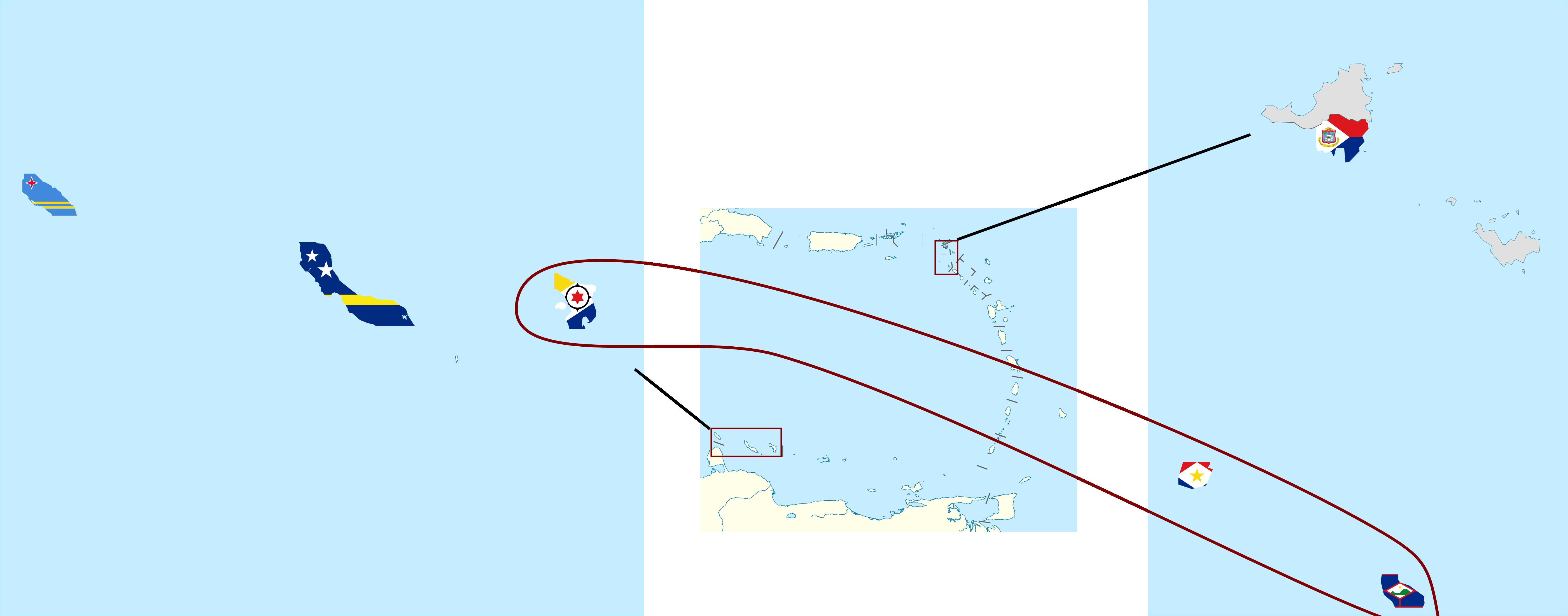 Flag map of Netherlands Antilles by hosmich on DeviantArt