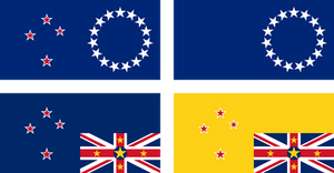 Alternative flags of Cook Islands and Niue