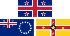 Flags of New Zealand, Cook Islands and Niue