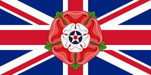 Combined flag of language: English