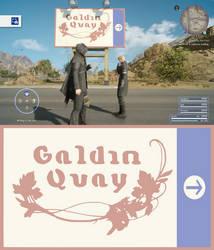 Final Fantasy XV - Galdin Quay Sign Post