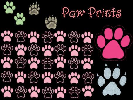 Paw Print Brush Set