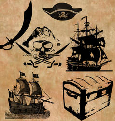 Pirate Brush Set
