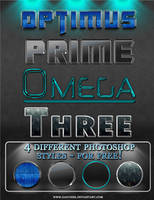 'Optimus' 4 photoshop styles by Gaucher
