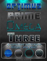 'Optimus' 4 photoshop styles by Gaucher