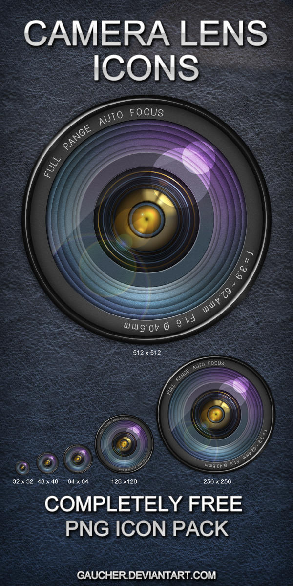 HD Camera Lens Icons by Gaucher