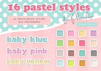 16 pastel styles for Photoshop