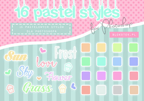 16 pastel styles for Photoshop #2