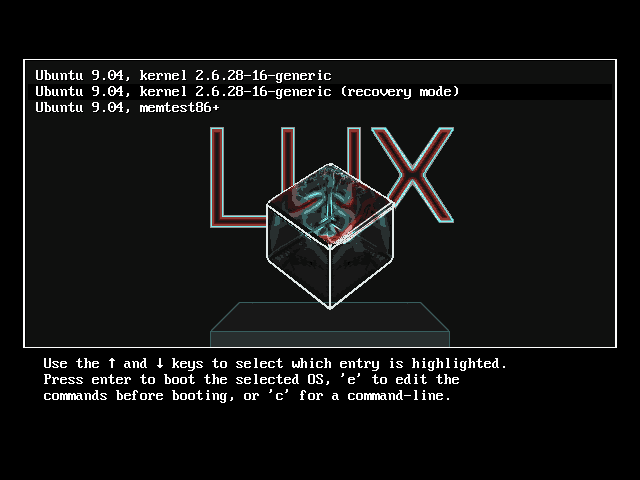 LUX-grub bootloader theme by szerencsefia on DeviantArt