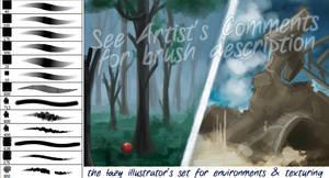 The Lazy Illustrator's brushset