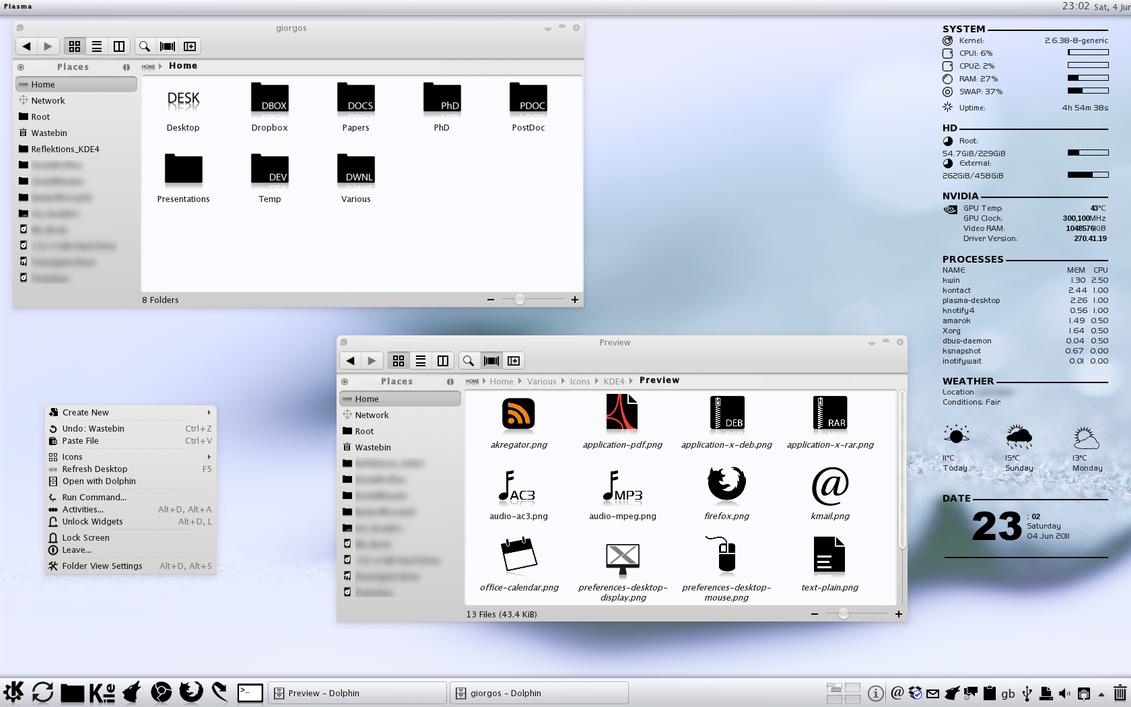 Reflektions_KDE4 v1.57 by linuxfever