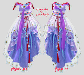 [MMD] Blade and Soul peony dress DL by witchfrogh