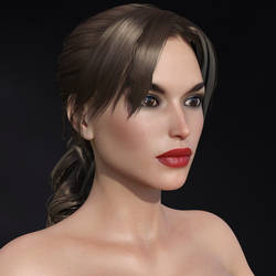 Free Lara Croft Headmorph for G3 and G8F DAZ3D
