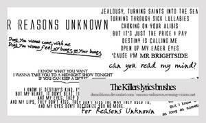 The Killers lyrics brush by demolitionn