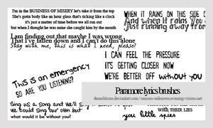 Paramore lyrics brush by demolitionn