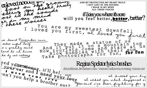 Regina Spektor lyrics brush by demolitionn
