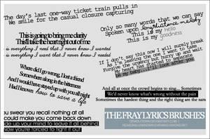 The Fray lyrics brush set by demolitionn