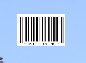 Barcode Clock 1.0 by OsricWuscfrea