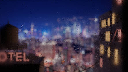 Looking out of a Rainy Window (Animation)