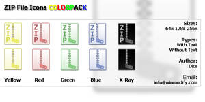 Zip File icons COLORPACK