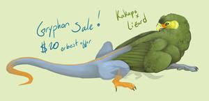 Kakapo Griffon for sale! OPEN by Winterfaux
