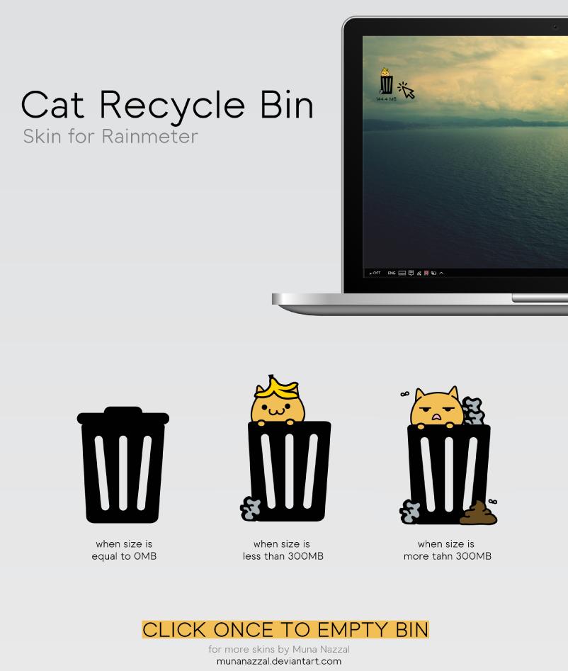 RecycleBin 2.0 - Free Rainmeter Skin [ Updated ] by MunaNazzal