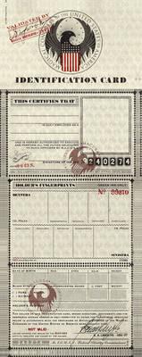 M.A.C.U.S.A. Identification Card Template PDF