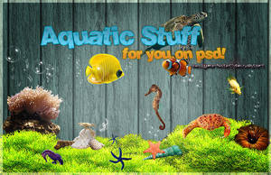 PSD File: Aquatic life by sellyourhate