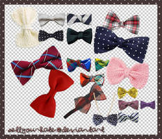 PNG's: Bows II by sellyourhate